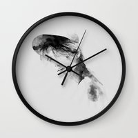 ace Wall Clocks featuring  ace by helenwidjaja