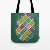 egg Tote Bags featuring Egg by milkingsquids
