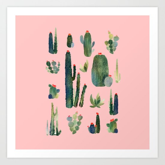 cactus pink new version! Art Print