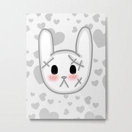 Halloween Kawaii Bunny Metal Print