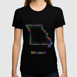 Rainbow Missouri map T-shirt