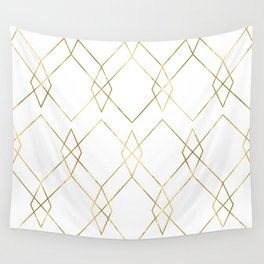 Gold Geometric Wall Tapestry
