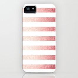 Simply Striped Rose Gold Twilight iPhone Case