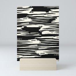 Modern Tribal Stripe Ivory and Black Mini Art Print