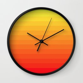 Fire Gradient Wall Clock