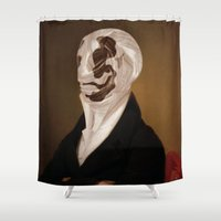 rorschach Shower Curtains featuring Rorschach by DIVIDUS