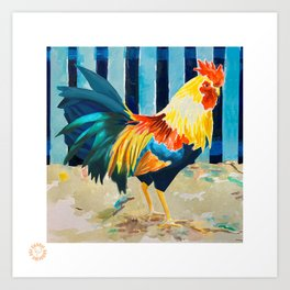 Why all the roosters in Key West? Art Print