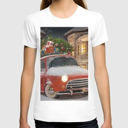 Christmas gifts New Year car with gifts 2017 Christmas Tree New Years Eve T-shirt