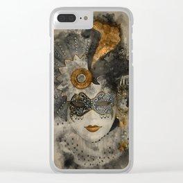 Venetian Mask 2 Clear iPhone Case