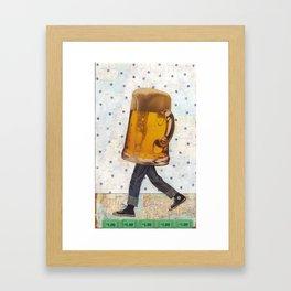 Walking Beer Framed Art Print