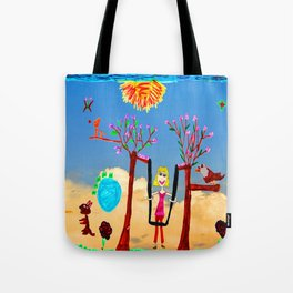 Dreaming | Playground | Up to the Clouds Tote Bag
