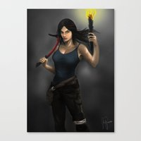 tomb raider Canvas Prints featuring Tomb Raider by Michael Itliong