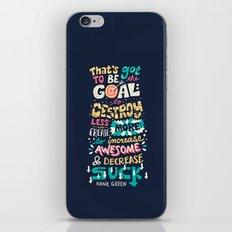 Increase Awesome, Decrease Suck iPhone & iPod Skin