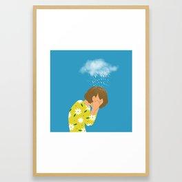 a sad day Framed Art Print