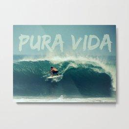 Costa Rica Pura Vida Surf Metal Print