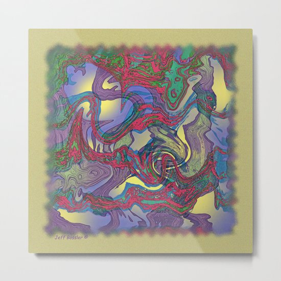 DRAGON WATER ABSTRACT Metal Print