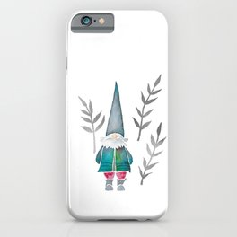 Winter Gnome - Silver Leaves iPhone Case