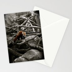 The Lone Red Panda Stationery Cards