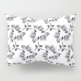 Black and White Abstract Poppy Pillow Sham