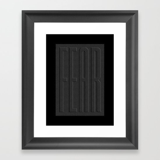 Fear Fence Framed Art Print