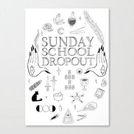 Art School Dropout (black) Canvas Print