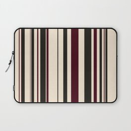 Antique White, Chocolate Brown and Black Chocolate Stripes Laptop Sleeve