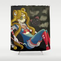 steam punk Shower Curtains featuring Sailor steam punk by K-Boomsky