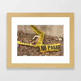 No Pasar Framed Art Print