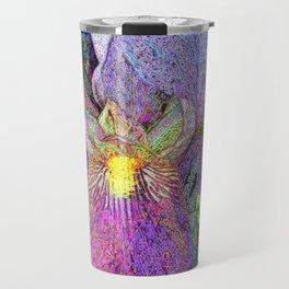 Impressionist Iris Travel Mug