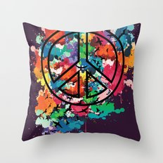 Peace & Freedom Throw Pillow