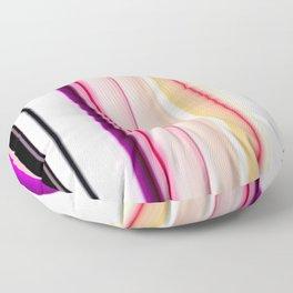 purple white pink black striped pattern Floor Pillow