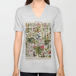 Adolphe Millot - Plantes Medicinales A - French vintage poster Unisex V-Neck
