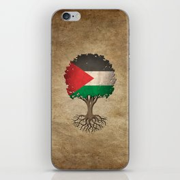 Vintage Tree of Life with Flag of Palestine iPhone Skin