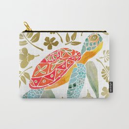 colorful and golden turtle Carry-All Pouch