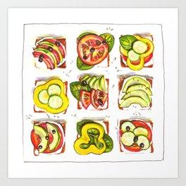 go vegan! Art Print