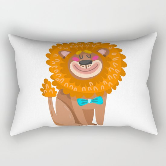 lion cartoon  cute Rectangular Pillow