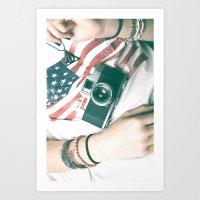 Hipster camera Art Print