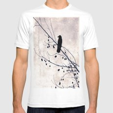 Crow Mens Fitted Tee White MEDIUM