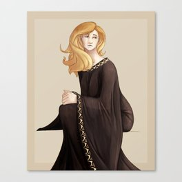Woman in Gold and Black Canvas Print