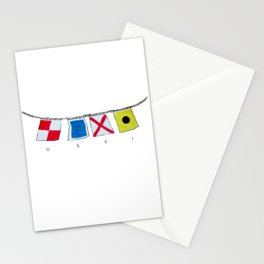 USVI nautical flags Stationery Cards