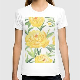 Peonies Watercolor T-shirt