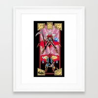 chrono trigger Framed Art Prints featuring Epic Chrono by MeleeNinja