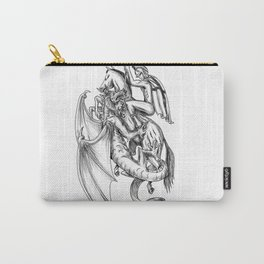 St George Slaying Dragon Tattoo Carry-All Pouch