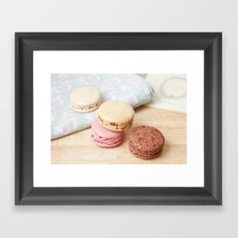 macarons! Framed Art Print