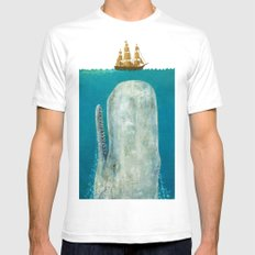 The Whale - colour option Mens Fitted Tee LARGE White