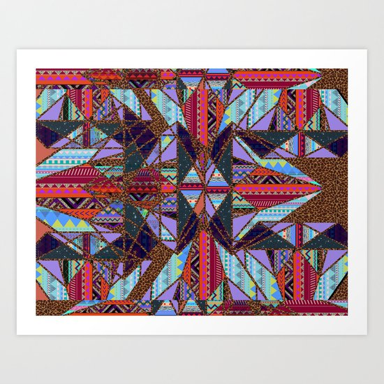 RETRO KALEIDOSCOPE //TWO Art Print