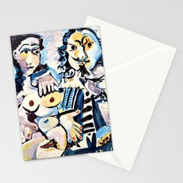 Pablo Picasso - Musketeer and seated nude - Digital Remastered Edition Stationery Cards