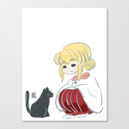 Little Neko Canvas Print