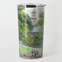 """Camille Pissarro """"Saint Anne's Church at Kew"""" (1892) Travel Mug"""