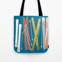 Colorful Ski Pattern Tote Bag